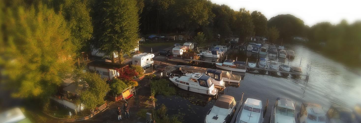 Liegeplätze für Boote in Berlin Spandau, Grunewald - günstige Bootsliegeplätze